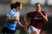 25 August 2018; Noëlle Healy of Dublin in action against Sarah Conneally of Galway during the TG4 All-Ireland Ladies Football Senior Championship Semi-Final match between Dublin and Galway at Dr Hyde Park in Roscommon. Photo by Piaras Ó Mídheach/Sportsfile