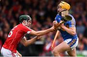 26 August 2018; Mark Kehoe of Tipperary in action against Mark Coleman of Cork during the Bord Gais Energy GAA Hurling All-Ireland U21 Championship Final match between Cork and Tipperary at the Gaelic Grounds in Limerick. Photo by Sam Barnes/Sportsfile