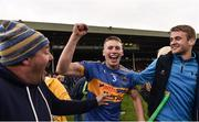 26 August 2018; Brian McGrath of Tipperary celebrates with friends and family following the Bord Gais Energy GAA Hurling All-Ireland U21 Championship Final match between Cork and Tipperary at the Gaelic Grounds in Limerick. Photo by Sam Barnes/Sportsfile