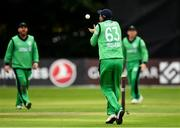 27 August 2018; Andrew Balbirnie of Ireland catches out Rahmat Shah Zurmati of Afghanistan during the One Day International match between Ireland and Afghanistan at Stormont Cricket Ground, Belfast, Co. Antrim. Photo by Seb Daly/Sportsfile
