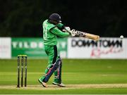 27 August 2018; Simi Singh of Ireland in action during the One Day International match between Ireland and Afghanistan at Stormont Cricket Ground, Belfast, Co. Antrim. Photo by Seb Daly/Sportsfile