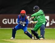 27 August 2018; Simi Singh of Ireland and Shafiqullah Shafaq of Afghanistan in action during the One Day International match between Ireland and Afghanistan at Stormont Cricket Ground, Belfast, Co. Antrim. Photo by Seb Daly/Sportsfile