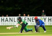 27 August 2018; Andrew Balbirnie of Ireland and Shafiqullah Shafaq of Afghanistan in action during the One Day International match between Ireland and Afghanistan at Stormont Cricket Ground, Belfast, Co. Antrim. Photo by Seb Daly/Sportsfile