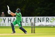 27 August 2018; Tim Murtagh of Ireland is bowled out by Aftab Alam of Afghanistan during the One Day International match between Ireland and Afghanistan at Stormont Cricket Ground, Belfast, Co. Antrim. Photo by Seb Daly/Sportsfile
