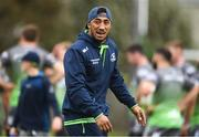 28 August 2018; Bundee Aki during Connacht Rugby squad training at the Sportsground in Galway. Photo by Sam Barnes/Sportsfile