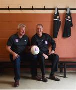 30 August 2018; Charlie Redmond, left, and Keith Barr, former Dublin and Erin's Isle footballers are pictured at Erin's Isle GAA Club, which recently took part in AIB's new series, 'The Toughest Rivalry'. Fans can tune into the epic finale of the eight-part YouTube series on Friday, August 31st when Harry Redknapp and Gianluca Vialli face-off as Vialli heads up Erin's Isle in Dublin and Harry takes charge of Castlehaven GAA in West Cork in the highly anticipated rematch of the 1998 All-Ireland Semi-Final, that left both teams with unfinished business. For exclusive content and behind the scenes action from Gianluca's journey follow AIB GAA on Facebook, Twitter, Instagram and Snapchat and www.aib.ie/gaa. Photo by David Fitzgerald/Sportsfile