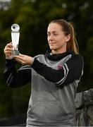 28 August 2018; Kylie Murphy of Wexford Youths with her Continental Tyres Women's National League Player of the Month award for July at IT Carlow in Carlow. Photo by Eóin Noonan/Sportsfile