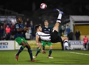 28 August 2018; Patrick Hoban of Dundalk in action against Dan Carr of Shamrock Rovers during the SSE Airtricity Premier Division match between Dundalk and Shamrock Rovers at Oriel Park in Dundalk, Louth. Photo by Stephen McCarthy/Sportsfile