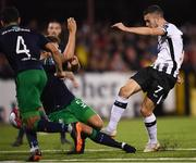 28 August 2018; Michael Duffy of Dundalk shoots to score his side's goal during the SSE Airtricity Premier Division match between Dundalk and Shamrock Rovers at Oriel Park in Dundalk, Louth. Photo by Stephen McCarthy/Sportsfile