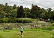 30 August 2018; Olivia Mehaffey of Ireland tees off from the 16th during the 2018 World Amateur Team Golf Championships at Carton House in Maynooth, Co Kildare. Photo by Matt Browne/Sportsfile