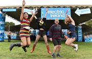 31 August 2018; Festival goers, from left, Niamh Hayes, Iona Tanner, Joshua Egan, Aoife Claffey, from Waterford at the Electric Ireland Throwback Stage during day one of Electric Picnic 2018 at Stradbally in Laois. Over 50,000 will descend on Electric Picnic this weekend. This year, Electric Ireland's Throwback Stage holds a weekend of throwback fun in store, including headliners B*witched, The Voice of M People: Heather Small and Johnny Logan. One of the most popular stages at the festival, Electric Ireland's Throwback Stage has played host to pop legends 5ive, S Club Party, Ace of Base, Bonnie Tyler, 2 Unlimited, The Vengaboys and Bananarama – to name a few. Share in the nostalgia of the Electric Ireland Throwback Stage, visit:?   ?www.twitter.com/ElectricIreland?|??www.facebook.com/ElectricIreland?| ?www.instagram.com/ElectricIreland | #ThrowbackStage Photo by Sam Barnes/Sportsfile