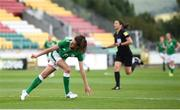 31 August 2018; Leanne Kiernan of Republic of Ireland turns to celebrate after scoring her side's first goal during the 2019 FIFA Women's World Cup Qualifier match between Republic of Ireland and Northern Ireland at Tallaght Stadium in Dublin. Photo by Stephen McCarthy/Sportsfile