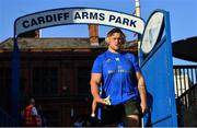31 August 2018; Andrew Porter of Leinster arrives ahead of the Guinness PRO14 Round 1 match between Cardiff Blues and Leinster at the BT Cardiff Arms Park in Cardiff, Wales. Photo by Ramsey Cardy/Sportsfile