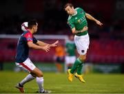 31 August 2018; Karl Sheppard of Cork City in action against John Mahon of Sligo Rovers during the SSE Airtricity League Premier Division match between Cork City and Sligo Rovers at Turner's Cross in Cork. Photo by Eóin Noonan/Sportsfile