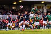 31 August 2018; Karl Sheppard of Cork City scores his side's first goal during the SSE Airtricity League Premier Division match between Cork City and Sligo Rovers at Turner's Cross in Cork. Photo by Eóin Noonan/Sportsfile