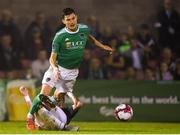 31 August 2018; Graham Cummins of Cork City in action against Patrick McClean of Sligo Rovers during the SSE Airtricity League Premier Division match between Cork City and Sligo Rovers at Turner's Cross in Cork. Photo by Eóin Noonan/Sportsfile