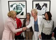 31 August 2018; Sabina Higgins, wife of The President of Ireland Michael D Higgins, meets Kay O'Connor, Marie O'Connell and Margaret Enright nee Murphy, members of the Dundalk Ladies football team who represented Ireland in a match against Corinthian Nomads of England, played in Wales in 1968, at half-time of the 2019 FIFA Women's World Cup Qualifier match between Republic of Ireland and Northern Ireland at Tallaght Stadium in Dublin. Photo by Stephen McCarthy/Sportsfile