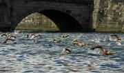 1 September 2018; Swimmers compete during the 99th Dublin City Liffey Swim in Dublin. Photo by Harry Murphy/Sportsfile