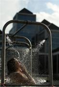 1 September 2018; A competitor showers following the 99th Dublin City Liffey Swim in Dublin. Photo by Harry Murphy/Sportsfile