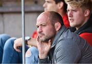 1 September 2018; Ulster and Ireland Rory Best captain watches on during the Guinness PRO14 Round 1 match between Ulster and Scarlets at the Kingspan Stadium in Belfast. Photo by Oliver McVeigh/Sportsfile