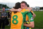 1 September 2018; Bernard Power of Corofin celebrates with Kieran Molloy after the Londis All Ireland Senior Football 7s final match between Naomh Gall and Corofin at Kilmacud Crokes GAA Club in Dublin Photo by Eóin Noonan/Sportsfile