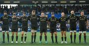 31 August 2018; Leinster players, from left, Josh Murphy, James Tracy, Barry Daly, Ross Molony, Peter Dooley, Michael Bent, Rory O'Loughlin, Scott Fardy and Rhys Ruddock during a minute's silence ahead of the Guinness PRO14 Round 1 match between Cardiff Blues and Leinster at the BT Cardiff Arms Park in Cardiff, Wales. Photo by Ramsey Cardy/Sportsfile