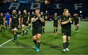 31 August 2018; Andrew Porter, left, and James Tracy of Leinster following the Guinness PRO14 Round 1 match between Cardiff Blues and Leinster at the BT Cardiff Arms Park in Cardiff, Wales. Photo by Ramsey Cardy/Sportsfile