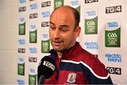2 September 2018; Galway manager Donal Ó Fátharta speaks to the media prior to the Electric Ireland GAA Football All-Ireland Minor Championship Final match between Kerry and Galway at Croke Park in Dublin. Photo by Seb Daly/Sportsfile