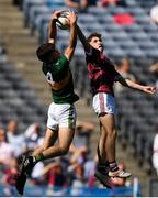 2 September 2018; Matthew Cooley of Galway in action against David Mangan of Kerry during the Electric Ireland GAA Football All-Ireland Minor Championship Final match between Kerry and Galway at Croke Park in Dublin. Photo by Eóin Noonan/Sportsfile
