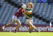 2 September 2018; Paul Walsh of Kerry in action against Tony Gill of Galway during the Electric Ireland GAA Football All-Ireland Minor Championship Final match between Kerry and Galway at Croke Park in Dublin. Photo by Piaras Ó Mídheach/Sportsfile
