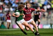 2 September 2018; Paul Walsh of Kerry in action against Conor Raftery of Galway during the Electric Ireland GAA Football All-Ireland Minor Championship Final match between Kerry and Galway at Croke Park in Dublin. Photo by Seb Daly/Sportsfile