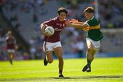 2 September 2018; Eoghan Tinney of Galway in action against Conor Flannery of Kerry during the Electric Ireland GAA Football All-Ireland Minor Championship Final match between Kerry and Galway at Croke Park in Dublin. Photo by Ray McManus/Sportsfile