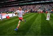 2 September 2018; Mattie Donnelly of Tyrone runs onto the pitch with team-mates prior to the GAA Football All-Ireland Senior Championship Final match between Dublin and Tyrone at Croke Park in Dublin. Photo by Stephen McCarthy/Sportsfile