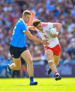 2 September 2018; Conor Meyler of Tyrone in action against Paul Mannion of Dublin during the GAA Football All-Ireland Senior Championship Final match between Dublin and Tyrone at Croke Park in Dublin. Photo by Ramsey Cardy/Sportsfile