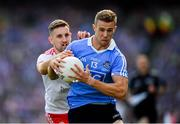 2 September 2018; Paul Mannion of Dublin in action against Niall Sludden of Tyrone during the GAA Football All-Ireland Senior Championship Final match between Dublin and Tyrone at Croke Park in Dublin. Photo by Stephen McCarthy/Sportsfile