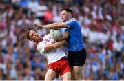2 September 2018; Philip McMahon of Dublin is tackled by Kieran McGeary of Tyrone during the GAA Football All-Ireland Senior Championship Final match between Dublin and Tyrone at Croke Park in Dublin. Photo by Piaras Ó Mídheach/Sportsfile