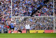 2 September 2018; Paul Mannion of Dublin shoots to score his side's first goal from a penalty during the GAA Football All-Ireland Senior Championship Final match between Dublin and Tyrone at Croke Park in Dublin. Photo by Stephen McCarthy/Sportsfile