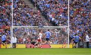 2 September 2018; Paul Mannion of Dublin converts a 21st minute penalty during the GAA Football All-Ireland Senior Championship Final match between Dublin and Tyrone at Croke Park in Dublin. Photo by Ray McManus/Sportsfile