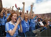 2 September 2018; Dublin supporters react during the GAA Football All-Ireland Senior Championship Final match between Dublin and Tyrone at Croke Park in Dublin. Photo by David Fitzgerald/Sportsfile