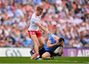 2 September 2018; Peter Harte of Tyrone and John Small of Dublin tussle during the GAA Football All-Ireland Senior Championship Final match between Dublin and Tyrone at Croke Park in Dublin. Photo by Stephen McCarthy/Sportsfile