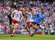 2 September 2018; Niall Scully of Dublin celebrates after scoring his side's second goal during the GAA Football All-Ireland Senior Championship Final match between Dublin and Tyrone at Croke Park in Dublin. Photo by Seb Daly/Sportsfile