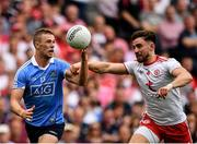 2 September 2018; Paul Mannion of Dublin in action against Pádraig Hampsey of Tyrone during the GAA Football All-Ireland Senior Championship Final match between Dublin and Tyrone at Croke Park in Dublin. Photo by Seb Daly/Sportsfile
