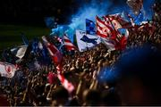 2 September 2018; Both sets of supporters wave their flags and set off a flare during the GAA Football All-Ireland Senior Championship Final match between Dublin and Tyrone at Croke Park in Dublin. Photo by David Fitzgerald/Sportsfile