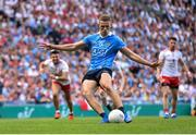 2 September 2018; Paul Mannion of Dublin shoots to score his side's first goal, from a penalty, during the GAA Football All-Ireland Senior Championship Final match between Dublin and Tyrone at Croke Park in Dublin. Photo by Seb Daly/Sportsfile