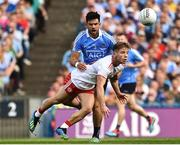 2 September 2018; Mark Bradley of Tyrone in action against Cian O'Sullivan of Dublin during the GAA Football All-Ireland Senior Championship Final match between Dublin and Tyrone at Croke Park in Dublin. Photo by Oliver McVeigh/Sportsfile