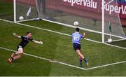 2 September 2018; Niall Scully of Dublin scores his side's second goal during the GAA Football All-Ireland Senior Championship Final match between Dublin and Tyrone at Croke Park in Dublin. Photo by Daire Brennan/Sportsfile