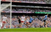 2 September 2018; Niall Scully of Dublin celebrates after scoring his side's first goal during the GAA Football All-Ireland Senior Championship Final match between Dublin and Tyrone at Croke Park in Dublin. Photo by Eóin Noonan/Sportsfile