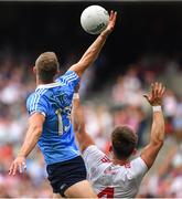 2 September 2018; Paul Mannion of Dublin in action against Pádraig Hampsey of Tyrone during the GAA Football All-Ireland Senior Championship Final match between Dublin and Tyrone at Croke Park in Dublin. Photo by Brendan Moran/Sportsfile