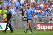 2 September 2018; Cian O'Sullivan of Dublin leaves the pitch injured during the GAA Football All-Ireland Senior Championship Final match between Dublin and Tyrone at Croke Park in Dublin. Photo by Brendan Moran/Sportsfile