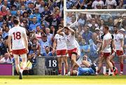 2 September 2018; Mattie Donnelly of Tyrone reacts after giving away a first half penalty during the GAA Football All-Ireland Senior Championship Final match between Dublin and Tyrone at Croke Park in Dublin. Photo by Oliver McVeigh/Sportsfile